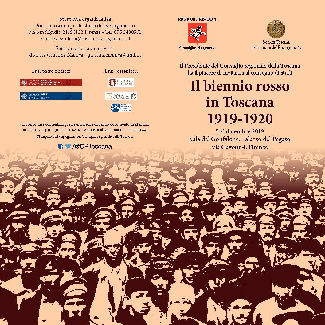 Convegno – Il biennio rosso in Toscana